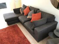 Next Stamford Chaise Sofa and Snuggle Chair plus Cushions