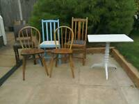 Job Lot Vintage Furniture for Upcycling Project