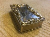 Solid silver table snuff box