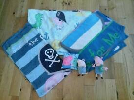 George Pig bedding, towel and toys