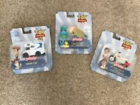 Brand new mini Toy Story figures in vehicle