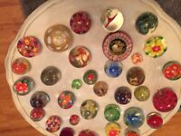 large collection of paper weights