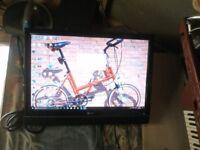 "22"" lg tv screen plus free gift ask me plz"