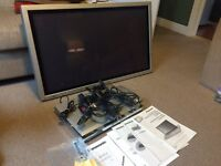 "Panasonic TH-37PW7 37"" Plasma Display Screen and Panasonic Receiver"