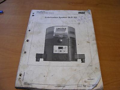 Lincoln Lubrication System QLS301 Installation Manual Book Brochure