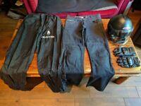 Cheap motorbike helmet and clothing - Caberg Riviera Helmet (M), Weise Vagos Gloves (XL), Jeans etc