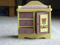 Doll's House Furniture (pink and yellow nursery unit)