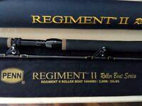 PENN BIG GAME FISHING ROD REGIMENT II ROLLER BOAT 50lb WITH HARD CASE £ 70