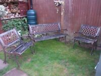 Bench and Two Matching Chairs for sale