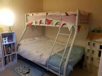 White Metal Double/Trio Bunk Bed