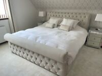 Lyon Chesterfield superking bed with memory foam mattress