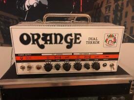 Orange Dual Terror amp with case