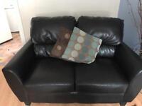 Dark brown 2x2 seat suit