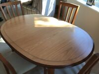 Quality Dining Table - seats 6 - and 4 chairs