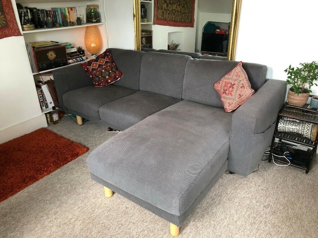Magnificent Ikea Norsborg 3 Seat Sofa W Chaise Longue In Finnsta Dark Grey In Haringey London Gumtree Inzonedesignstudio Interior Chair Design Inzonedesignstudiocom