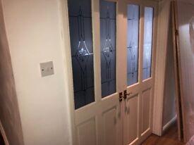 2 Glazed solid wood doors