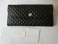 USED GENUINE Black Gucci guccissima leather monogram wallet purse. Women purse wallet