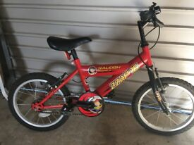 "Raleigh Mission 16"" Red mountain bike"