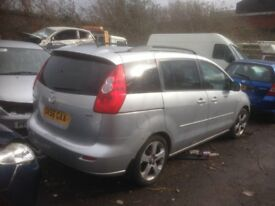 2006 MAZDA 5 2.0 TD RF7J 143BHP MAUL IN SILVER BREAKING FOR PARTS & SPARES