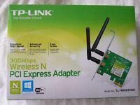 TP-LINK 300Mbps Wireless N PCI Express Adapter model TL-WN881ND - BNIB