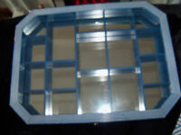 Small Hanging Display Cabinet 17 Compartments Blue