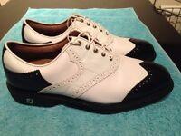 Golf Shoes Footjoy Icon Black/White Croc Saddle Size 9w. New without box.