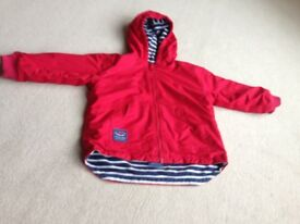 Jojo Maman Reversible Waterproof Fleece Lined Rain Jacket age 3-4