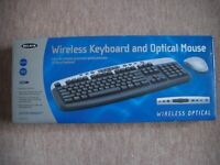 WIRELESS KEYBOARD AND OPTICAL MOUSE NEW IN BOX BELKIN