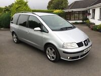 SEAT ALHAMBRA TDI DIESEL, 2008, JUST SERVICED, LOVELY CAR **FINANCE THIS TODAY FROM £35 PER WEEK**