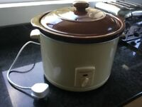Morphy Richards Slow Cooker. Traditional Terracotta style Lid and Interior. Metal Case
