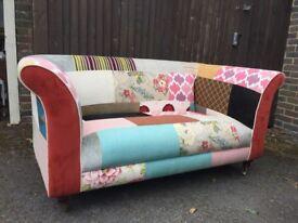 Designer patchwork sofa