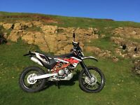 KTM 690 Enduro R 2015 6900 miles many upgrades Rally Raid tanks, 275mm suspension