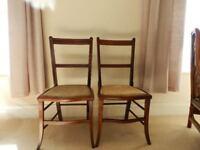 Two Regency style mahogany bedroom chairs