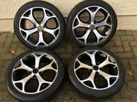 "4 GENUINE 17"" VAUXHALL CORSA VXR ALLOY WHEELS & TYRES EXCELLENT CONDITION ALLOYS"