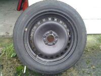 tyre and steel wheel unsed
