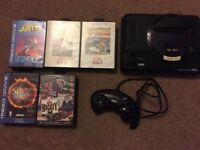 Mega Drive console and games