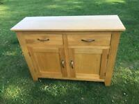 Solid oak sideboard good condition very heavy