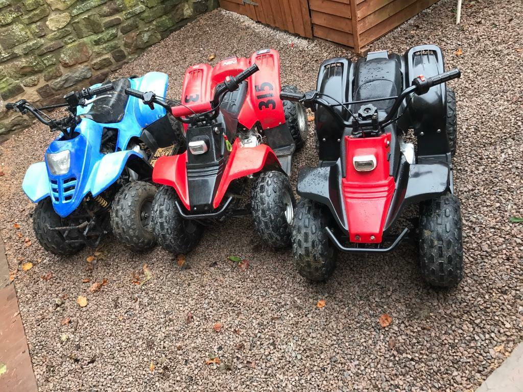 KIDS QUAD BIKES X3 50cc IDEAL XMAS PRESENTS 🎁