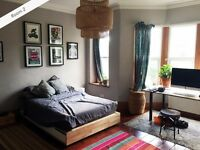 Large, unfurnished double room with bay window available, in friendly Montpelier house share
