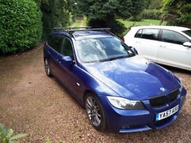 BMW 325D Touring MSport Manual 2008 3 Series E91, E90 estate, not 330D