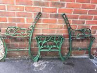 Cast iron Garden bench ends and coffee table ends