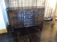 Traditional Ercol Solid Elm Sideboard