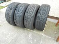 BMW 1 Series Tyres. 4 off Michelin cross climate (winter) tyres