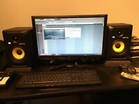 KRK ROKIT 5 studio speakers with sound driver