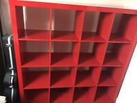 Large red shelving unit / Room divider