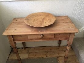 Antique victorian Pine dresser / hall table