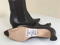 L.K. Bennett brown leather ladies ankle boots