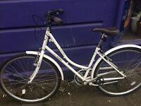 Ladies White Claude Butler Cambridge bike for sale