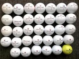 34 Wilson Staff DX2/3 golf balls in excellent condition