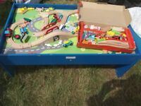 Chad Valley play table with train set